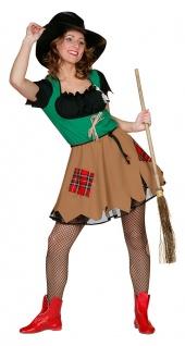 Vogelscheuche Kostüm Damen sexy Kleid Märchen Fasching Karneval KK