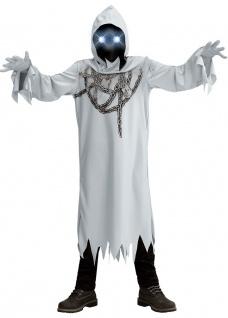 Gespenst Kostüm Kinder mit leuchtenden Augen Geist-er Horror Halloweenkostüm KK