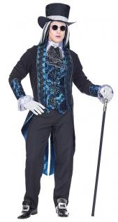 Vampir Kostüm Herren hochwertig Gothic Graf Dracula MIT Hut Halloweenkostüm KK