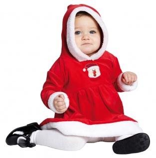 Weihnachtskosüm Baby Weihnachtsmann Mädchen Nikolaus Santa Claus Weihnachten KK