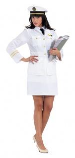 Kapitän Kostüm Damen weiß mit Kapitänsmütze KK