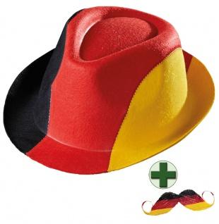 Party Hut Deutschland Fan-Artikel Schnurrbart EM WM Herren Fußball 2021 KK