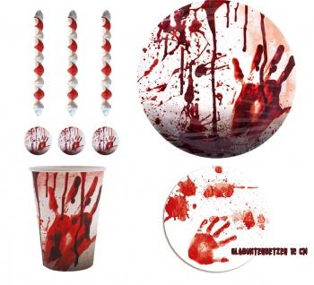 Halloween Party Dekoration Set Blut Tischdeko Girlanden KK