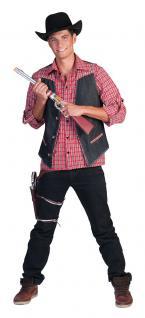 Kostüm Cowboy Herren Westernkostüm Cowboyweste Western Weste Karneval KK