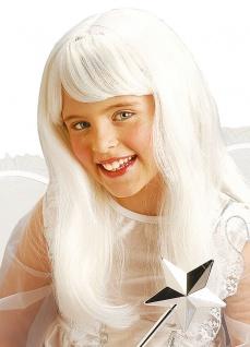 Weiße Perücke Engel Engelsperücke weiß Weihnachten für Kinder Mädchen KK