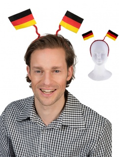 Haarreif Deutschland Fan-Haarreif mit 2 Flaggen Fan Fußball WM Frauen 2019 KK