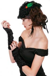 Handschuhe Gerafft Satin lang schwarz Gatsby Charleston 20er Fasching Karneval