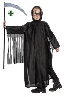 Sensenmann Kostüm Skelett für Kinder Der Tod mit Sense Halloween Kinderkostüm KK
