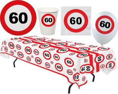 Party Set XL 45 Teile Geburtstag 60 Jahre Verkehrsschild
