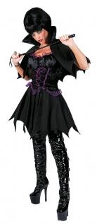 Batwoman Kostüm Kleid mit Umhang Gothic Damen Halloween-Kostüm KK