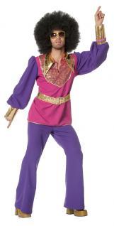 Disco Kostüm Herren 70er 80er Jahre Herrenkostüm Discofever pink gold Karneval K