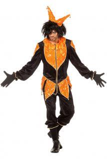 Narren-Kostüm Herren Kostüm Clown Harlekin Narrenkostüm Herren-Kostüm Karneval K