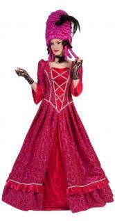 Viktorianisches Kleid Damen Barock Kostüm Renaissance Damen-Kostüm pink lang KK