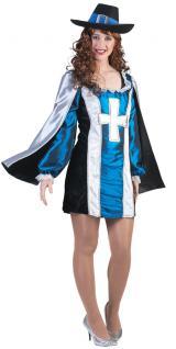 Karneval Klamotten Kostüm Musketier D'Artagnan Karneval Mittelalter Damenkostüm