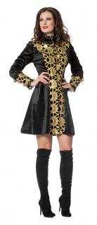 Damen Frack schwarz gold Jacke Luxus Steampunk Damenkostüm Fasching Karneval K