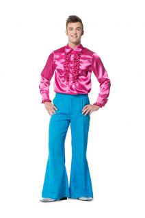Hippie Hippie-hose Schlaghose Flower Power 60er 70er blau Herren-Kostüm KK
