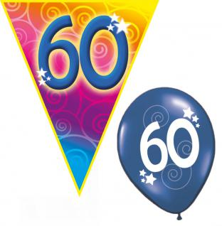 Set Geburtstag Luftballons und Girlanden 60 Jahre