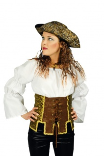 Piratenkostüm Damen Piraten-Korsage Piratenbraut Fasching Karneval KK