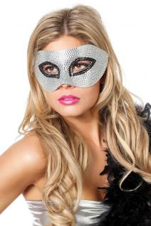 Venezianische Masken Venezianisch silber Steinchen Augen-Maske Venedig Maskenbal