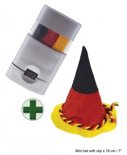 Hut Deutschland Bavaria Schminkstift WM Frauen Fußball Fan schwarz rot gold KK