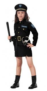 Polizei Kostüm Mädchen Polizist Polizistin Holster Polizeimütze Handschellen KK