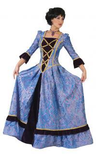 Viktorianisches Kostüm Damen Barock Renaissance Kleid Damen-Kostüm lila lang KK