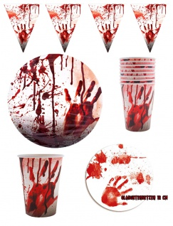 Halloween Party Dekoration Set Blut Zombie KK