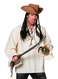 Piratenkostüm Herren Pirat Piraten Hemd weiß Baumwolle Herrenkostüm Karneval KK