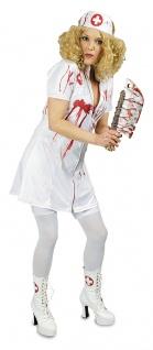 blutige Krankenschwester Damen Horror-Kostüm mit Blut Zombie Halloween-Kostüm KK
