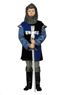 Ritter Kostüm Kinder blau Mittelalter Jungenkostüm Fasching Karneval KK
