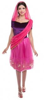 Bollywood Kostüm Damen Sari Hindu Inderin Indien Karneval Fasching KK