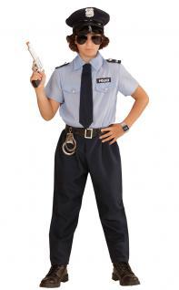 Karneval Klamotten Kostüm Polizist Sander Junge Karneval Polizei Jungenkostüm