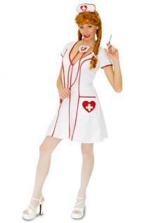 Karneval Klamotten Kostüm Krankenschwester Maggie Dame Karneval Krankenhaus