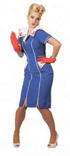 Matrosen Kostüm Damen Retro 50er Jahre Marine Kleid Matrosin Damen-Kostüm KK