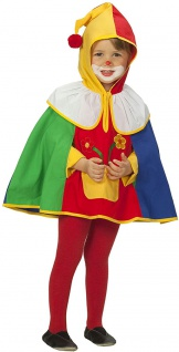Clown Kostüm Umhang Cape Kinder Kleinkind Fasching Karneval KK