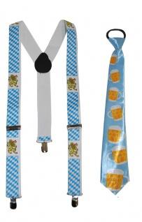 Hosenträger Oktoberfest INKL. Krawatte Oktoberfest Karneval KK