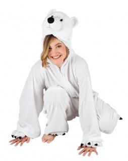 Eisbär Kostüm Damen Plüsch Bär Eisbären Damenkostüm Erwachsene Tier Karneval KK