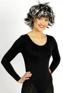 Body schwarz Damen elastisch Tanzbody Fasching Karneval Damenkostüm KK