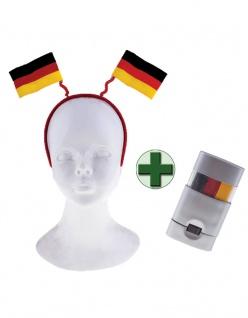 Haarreif Deutschland Fan-Haarreif 2 Flaggen Schminkstift WM Frauen Fußball 2019