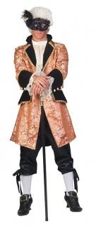 Barock Kostüm Herren Renaissance Kostüm Rokoko Herren-Kostüm gold schwarz KK