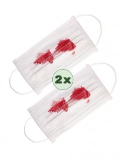 Mundschutz Halloween Blutige Mundschutz Maske Mund Nasen Schutz 2 Stück KK