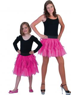 Petticoat Kinder Tüllrock Kinder Petticoat Unterrock Tütü pink weich Länge 35 cm