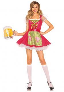 Oktoberfest Dirndl Kostüm pink Luxus Trachtenkleid Damen Dirndl Bayern Tirol KK