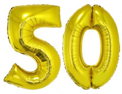 Folienballon Zahl Luftballon XXL goldene Hochzeit 50 Jahre Jubiläum Party Deko K