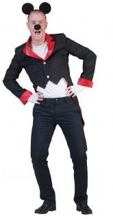 Mickey Mouse Kostüm Herren Jacke Mickey Maus-Kostüm Frack Karneval Herren-Kostüm