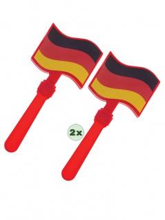 Klapperhand 2 Stück Fan-Artikel EM WM Herren Fußball Deutschland 2021 KK