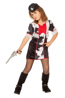 Cowboy Kostüm Kinder Mädchen Cowgirl Westernkostüm Fasching Karneval KK
