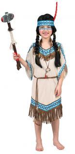Indianer Kostüm Kinder Indianerin Kostüm Mädchen-Kostüm Squaw beige blau KK