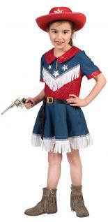 Cowgirl Kostüm Kinder Cowboy Jeans rot blau Western-Kostüm Mädchen-Kostüm KK