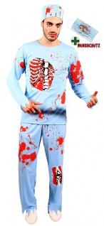Zombie Horror Kostüm Herren blutiger Arzt Halloween Mund Nasen-Schutz Blut KK